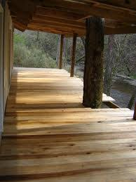 western red cedar decking installation