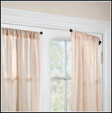 curtain rod over french doors curtains home design ideas