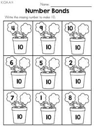 spring number bonds u003e u003e part of the spring kindergarten maths