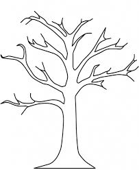 how to draw a bare tree pencil art drawing