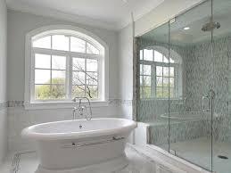bathroom bathroom accent tile 31 shower blue gray soho glass