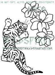 tiger and flowers by wildspiritwolf on deviantart