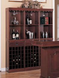 Wine Bar Table Finish Contemporary Bar Table W Wine Rack U0026 Glass Hangers