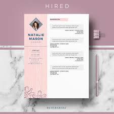 Creative Resume Templates Pinterest Creative Resume Template For Ms Word U201cnatalie U201d Creative Resume