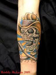 cowboy skull tattoos cowboy skull places to visit