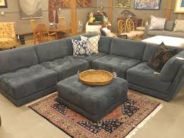 Charcoal Sectional Sofa Personable Charcoal Tufted Velvet Custom Sectional Sofa With F