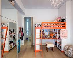 Room With Desk Kids U0027 Room With Orange Ikea Bunk Beds Kids Pinterest Bunk