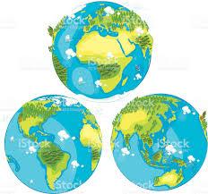 Map Of Globe Cartoon Map Of World Stock Vector Art 165970194 Istock