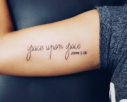 Pictures Of Tattoos On The - best 25 grace tattoos ideas on prayer bible