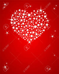 shining vector valentines day background with glitter heart