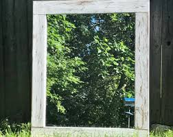 Rustic Bathroom Mirrors - rustic mirror etsy