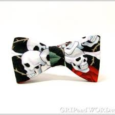 new halloween bow ties grip and word