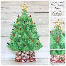 christmas collections doodlebug design inc mix it up challenge 3d christmas tree