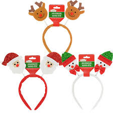 christmas headbands bulk christmas house headbands 9 in at dollartree