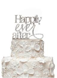 rhinestone happily ever after cake topper david u0027s bridal