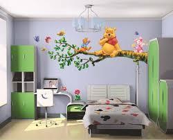 desain kamar winnie the pooh creative bed room modern design diy wall decor cartoon winnie the
