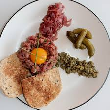 tartare cuisine steak tartare with pickled shallots the cook