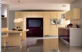 tv in kitchen ideas kitchen modern minimalist kitchen design with modern wallpaper and