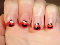 easy nail art characters cartoon elmo nail designs indesign art and craft ファッション
