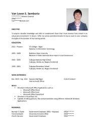 Resume Format For Ojt Sample Resume For Information Technology Students Ojt 10 Resume
