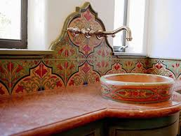 mexican tile bathroom ideas teruel backsplash mural traditional kitchen tile