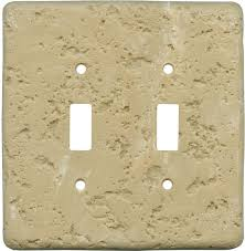light almond switch plate covers simulated stone switch plates in 12 colors