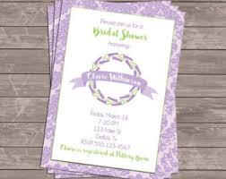 lavender wedding invitations lavender invitations etsy