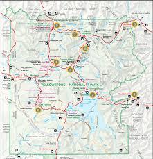Yellowstone Park Map Tetons U0026 Yellowstone U2013 Mammoth Springs U2013 The Norconk