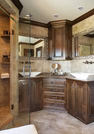 Bathroom Counter Cabinets corner bathroom vanity cabinet with integrated marble sink using