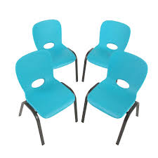 furniture lifetime stacking chair blue lovely childrens
