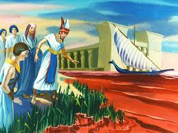 free bible images god opens a path through the red sea for moses