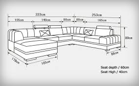 taille canapé canap angle convertible design banquette lit cuir