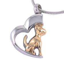 pet memorial necklace small urn pet memorial necklace dog in a heart