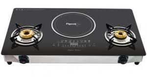 Hybrid Gas Induction Cooktop Pigeon Rapido Aspira Hybrid Induction Cooktop Non Stick Flat