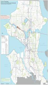 Map Of Seattle Council Will Hold Public Hearing On Bike Master Plan Wednesday
