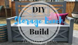 Outdoor Storage Bench Diy by Diy Outdoor Storage Bench Ana White Inspired Tamara U0027s Joy