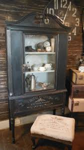 high end china cabinets plus antique buffet and cabinet together