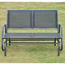 Heavy Duty Garden Bench Outsunny Patio Double Glider Bench Swing Chair Rocker Heavy Duty