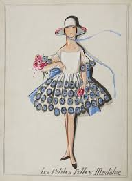 jeanne lanvin drawings of little girls dresses from the 1920 u0027s