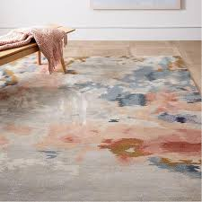 Modern Gray Rugs Blush Gray Tufted Wool Rug