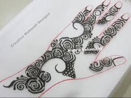 stylish roses henna mehndi design on back tutorial