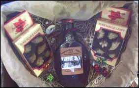 Maine Gift Baskets Salmon Brook Vally Producers Of Organic Maine Maple Syrup Heart