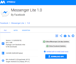 messenger fb apk messenger lite is the app we ve all been waiting for
