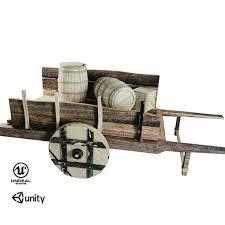 wooden cart by vankyle 3docean