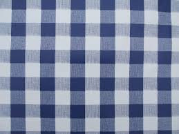 dining room round wipe clean table cloth blue gingham with wooden