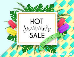 summer sale hot summer sale poster design vectors 03 vector cover free