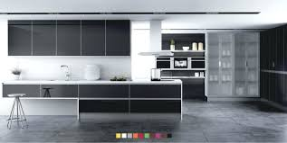 enchanting high gloss black kitchen cabinets images best