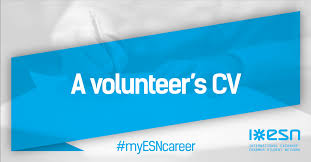 How Do I Add Volunteer Work To My Resume A Volunteer U0027s Cv How To Get It Right Erasmus Student Network