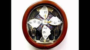 qxm478brh seiko melodies in motion pendulum wall clock youtube