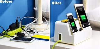 phone charger organizer desk power cable socket boxes mobile phone charging bracket cable